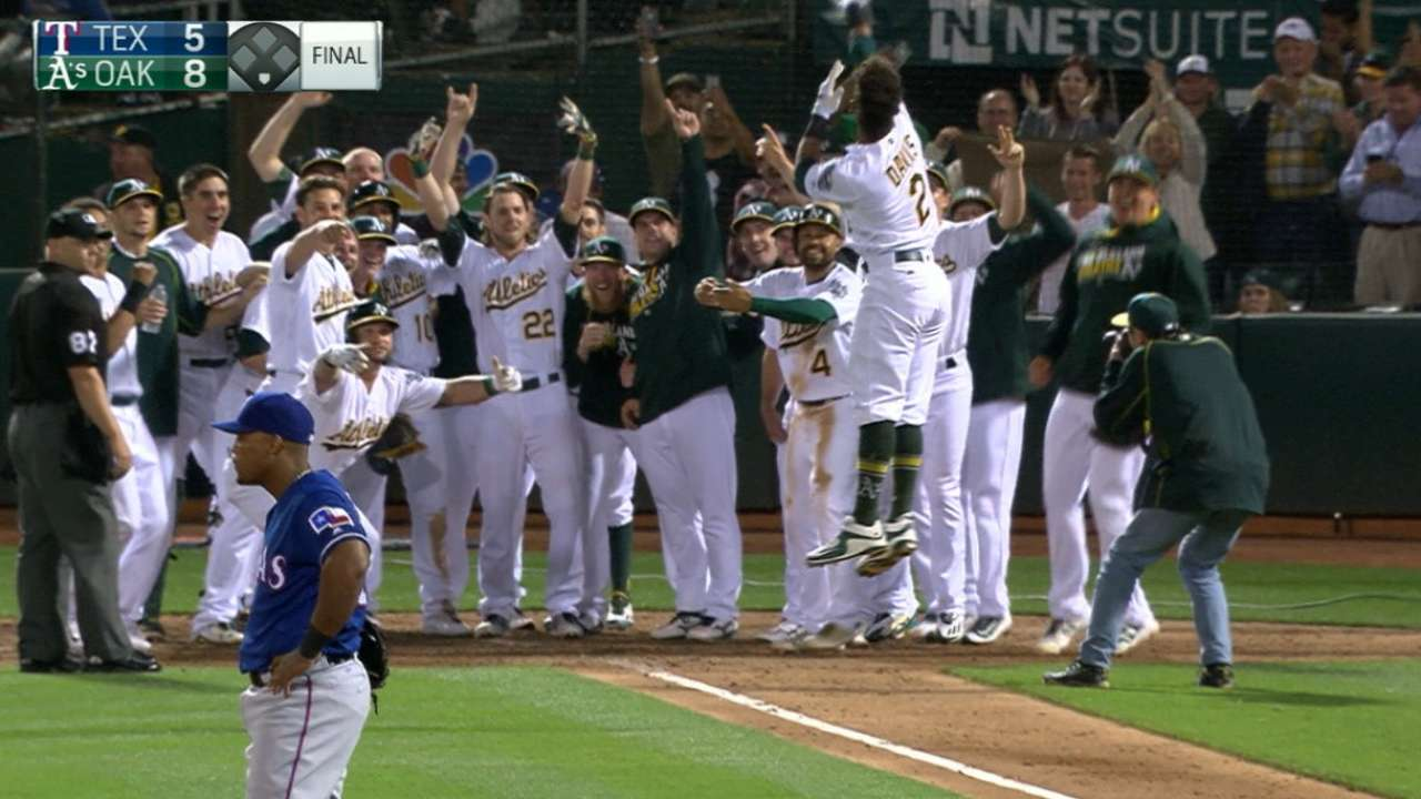 A's radio call of the night