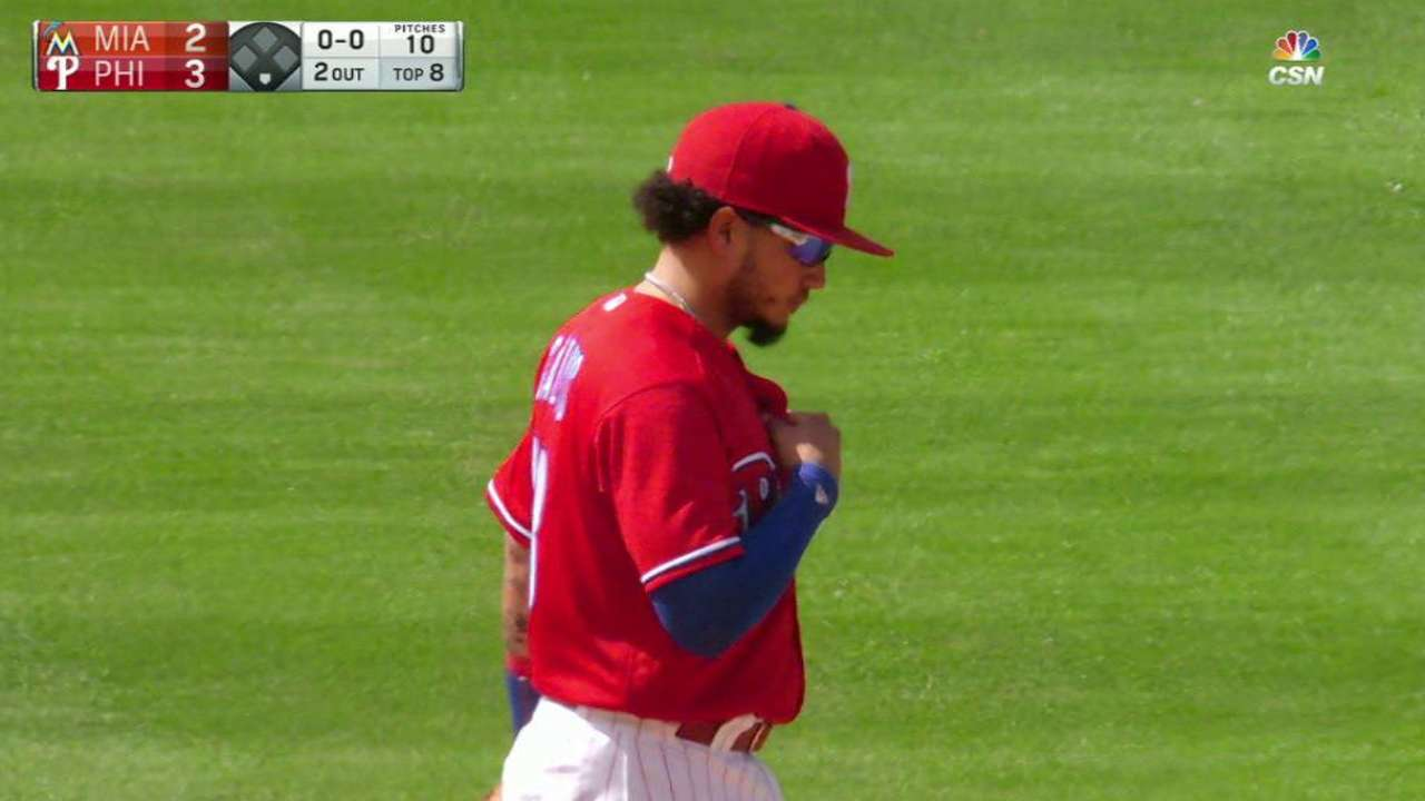 Neris induces a big double play