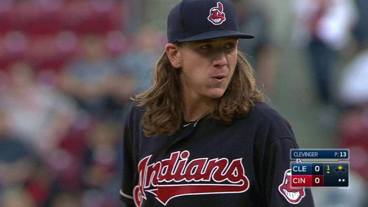 Clevinger's first strikeout