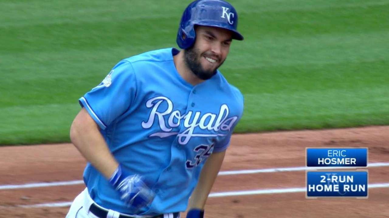 Hosmer's two-run homer