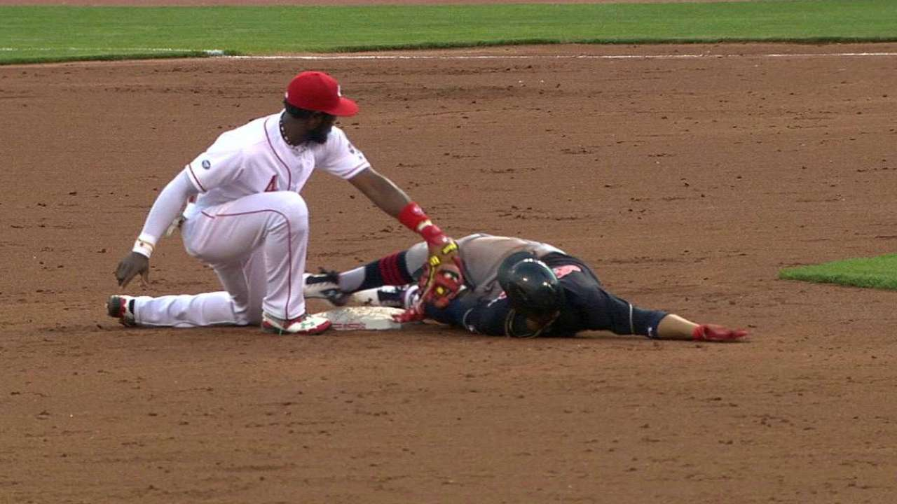 Indians challenge at second