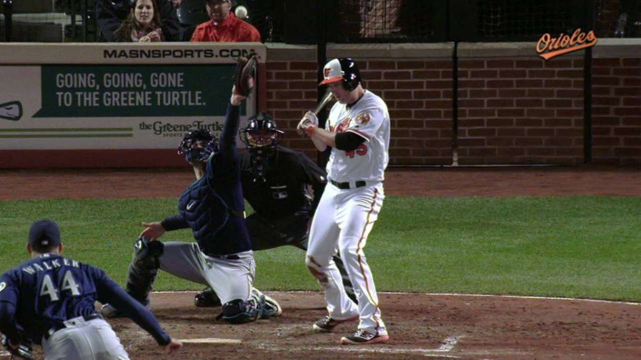 Walker doesn't trust fastball; O's make him pay