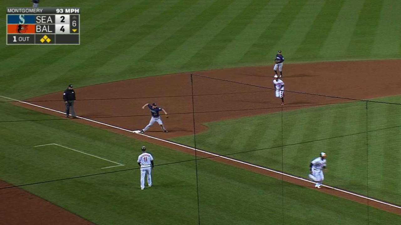 Montgomery induces double play