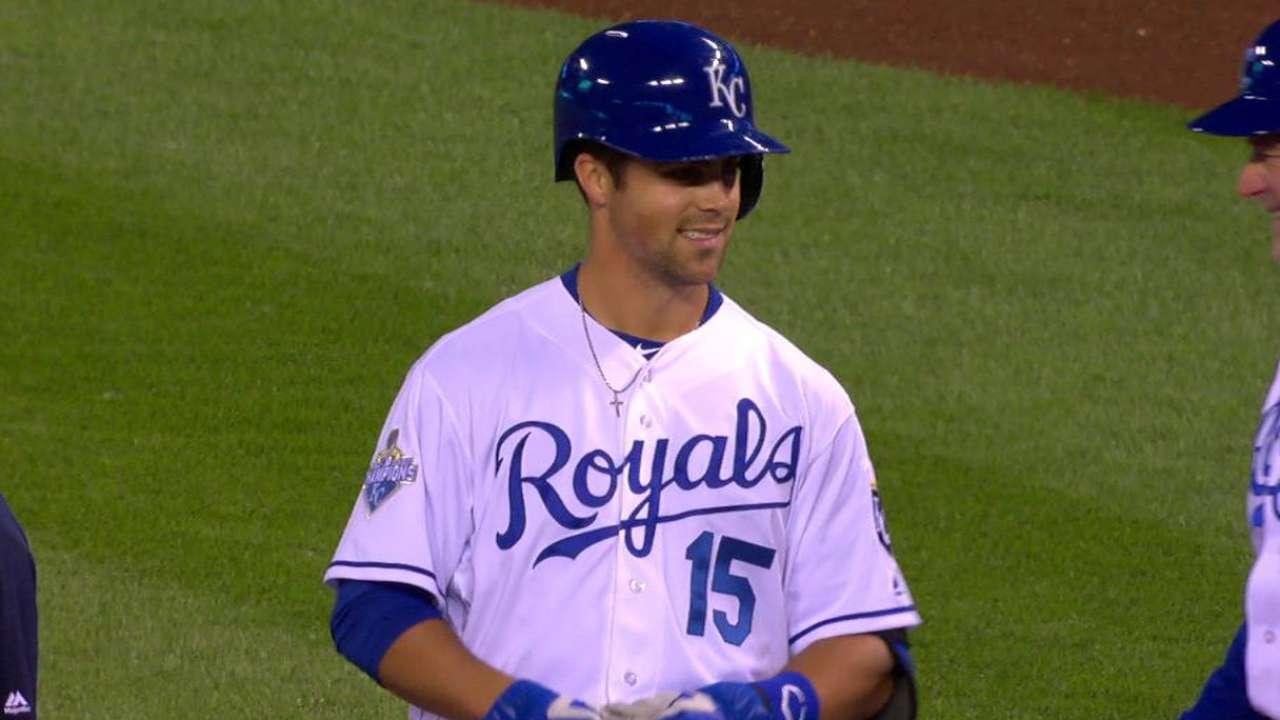 Merrifield notches hit in big league debut
