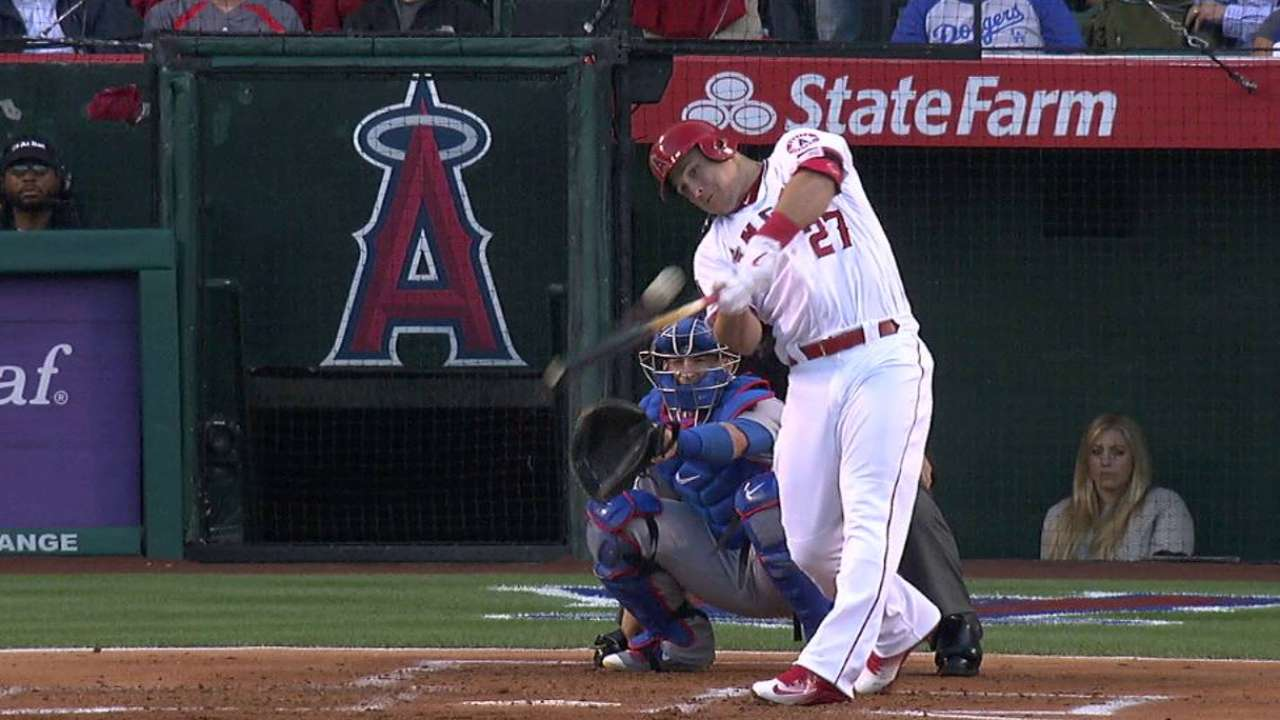 Trout in familiar spot atop WAR charts