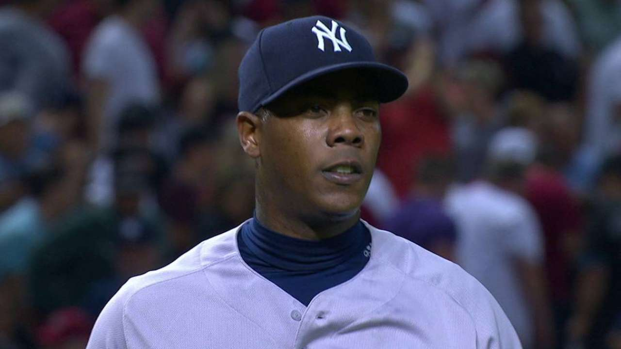 Chapman salvó su 4to y Yankees sacaron el del honor