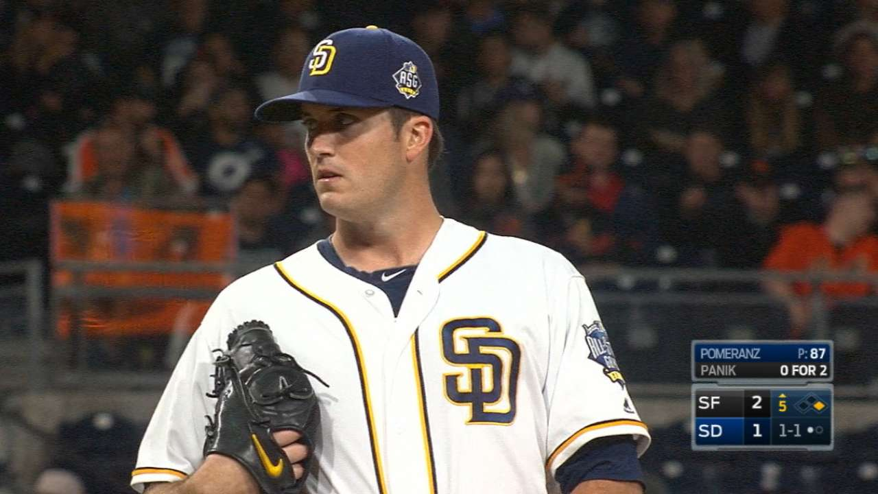 Pomeranz a hard-luck loser as Cueto quiets Padres