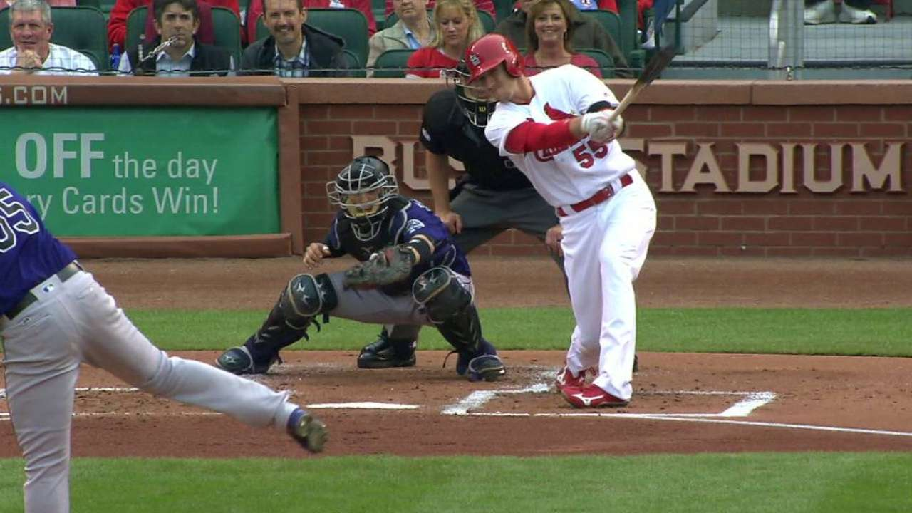 Piscotty's ground-rule double
