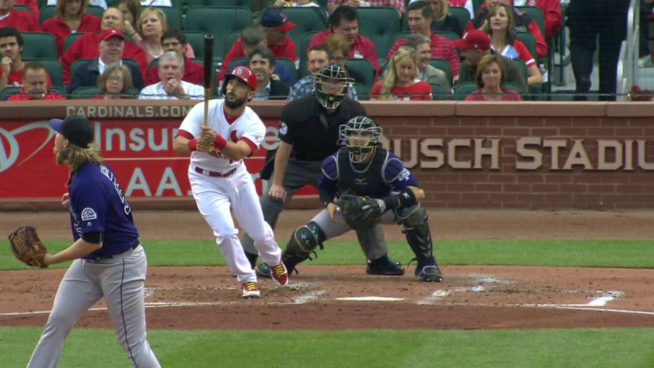 After tests, Grichuk cleared to pinch-hit