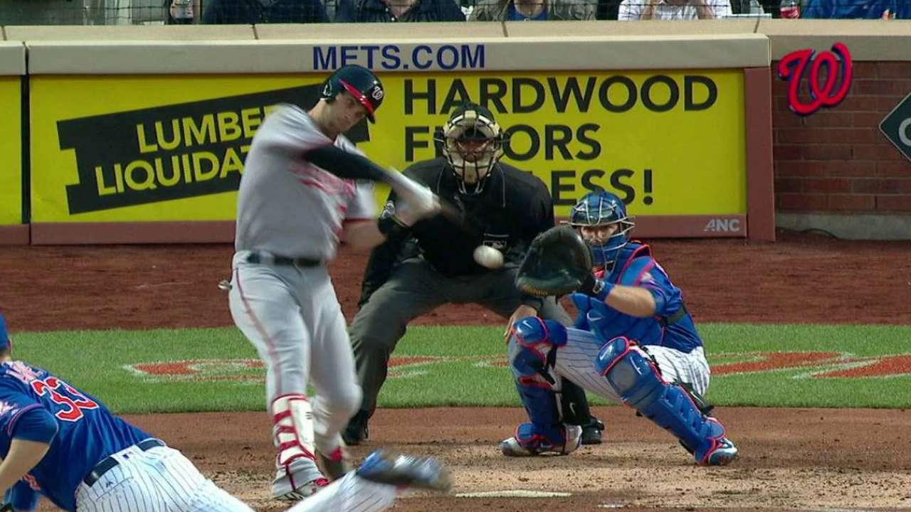 Harper hitless no more against Mets' Harvey