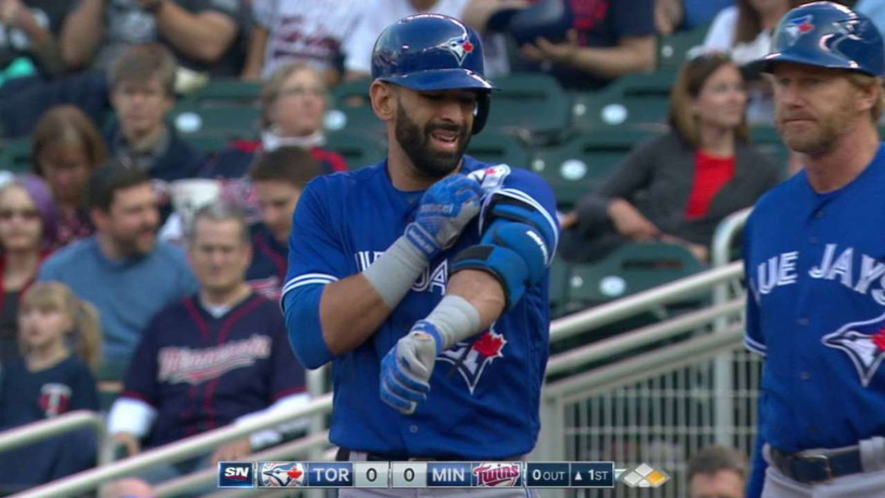 Bautista bats leadoff for first time since '10