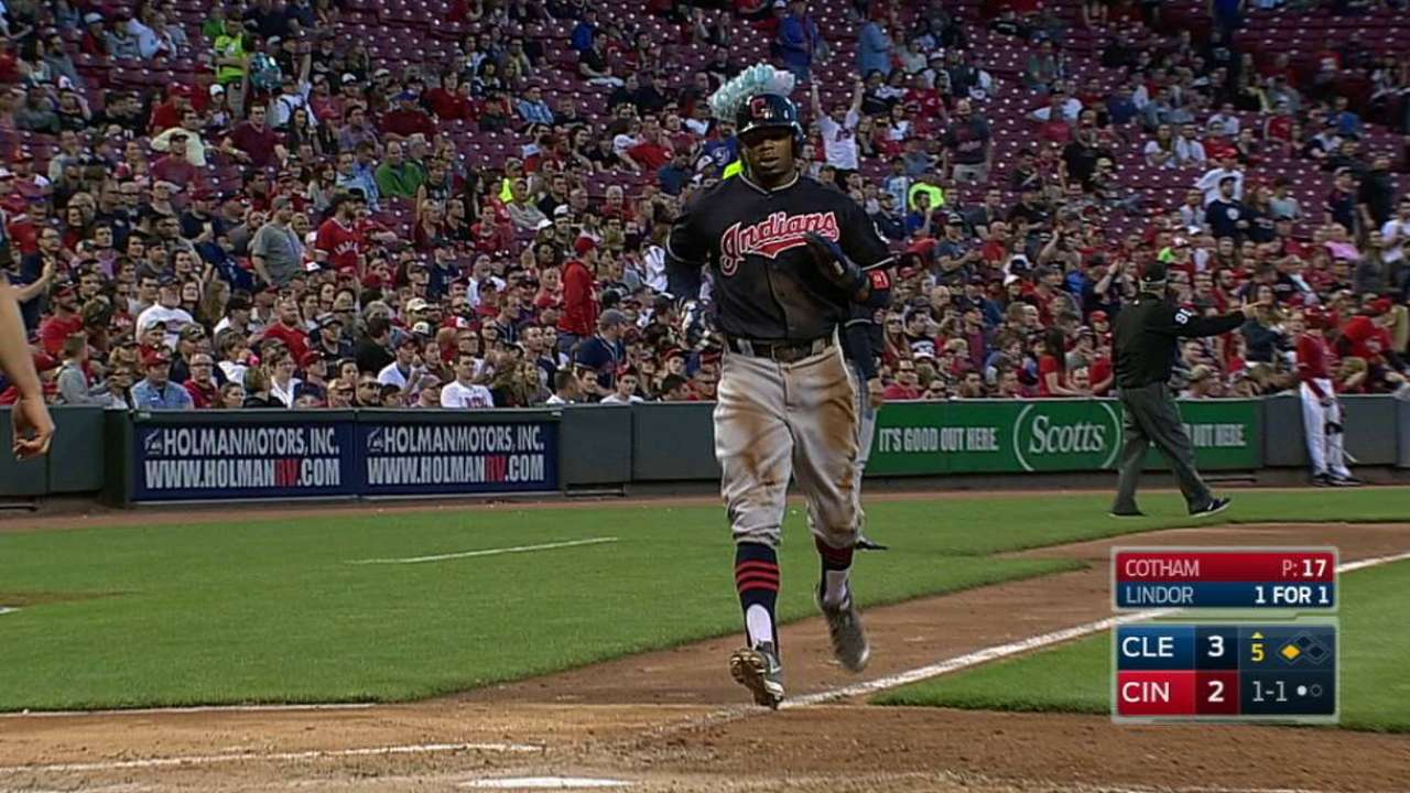 Lindor's run-scoring single