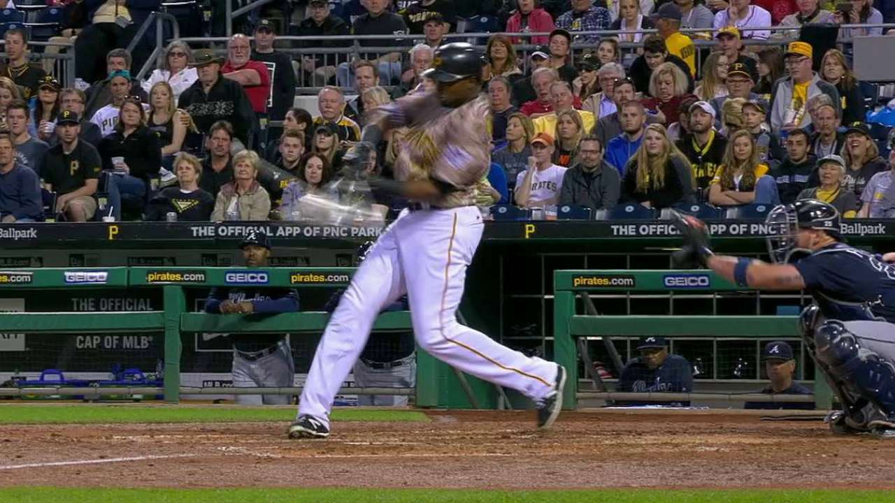 Polanco legs out a triple