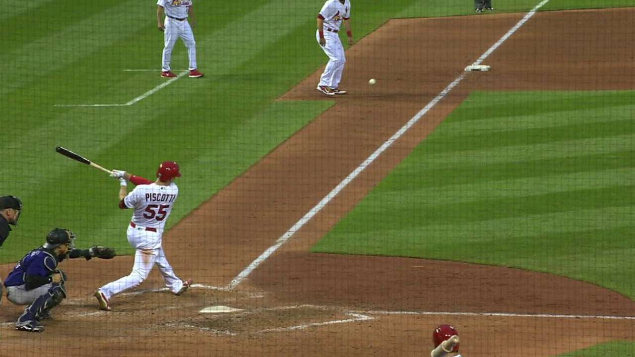 Piscotty's second RBI double