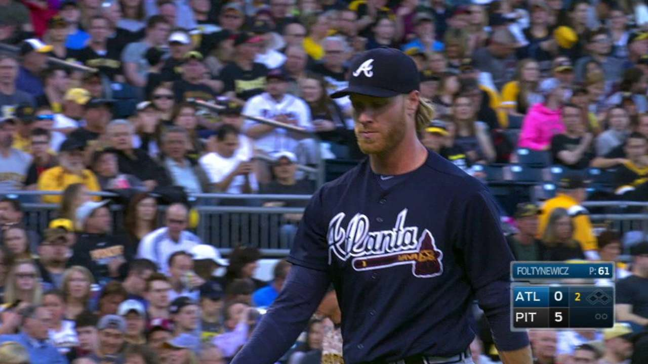 Braves' young arms experiencing growing pains