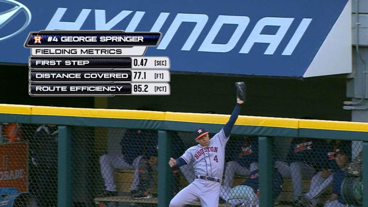 Statcast: Springer robs home run