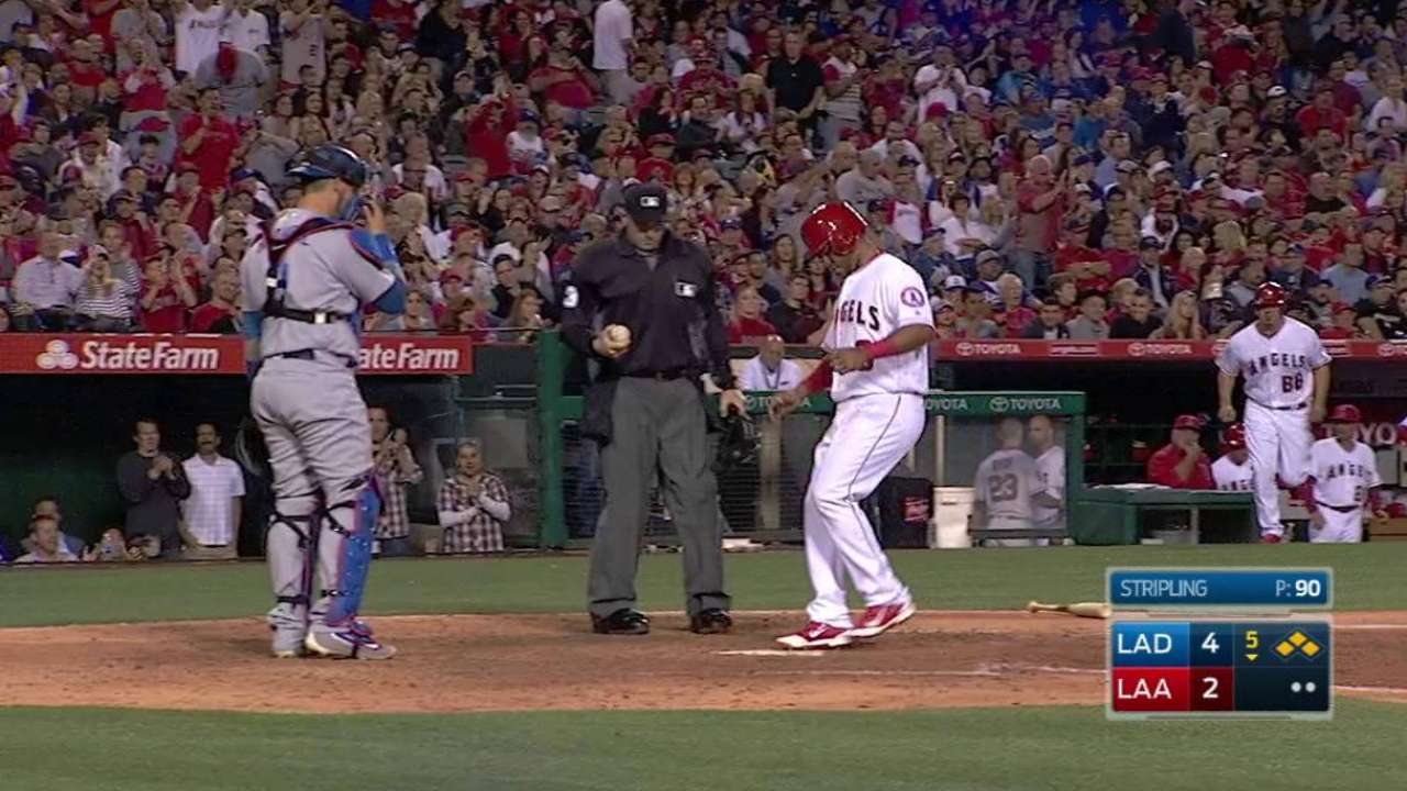 Cron gets hit with bases loaded