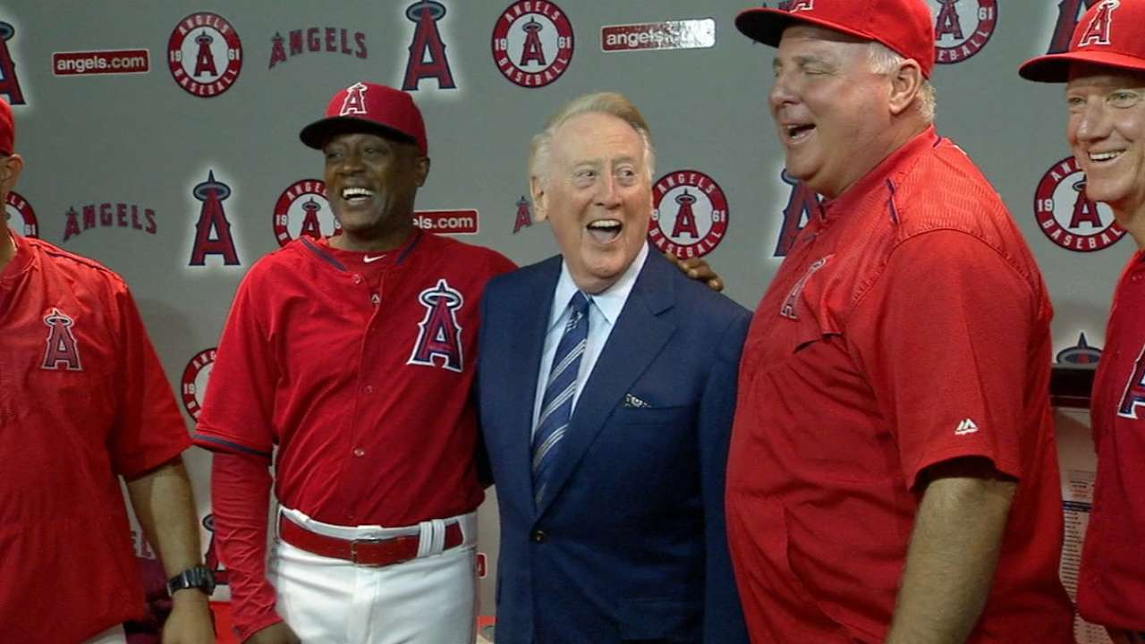 Angels honor Vin Scully