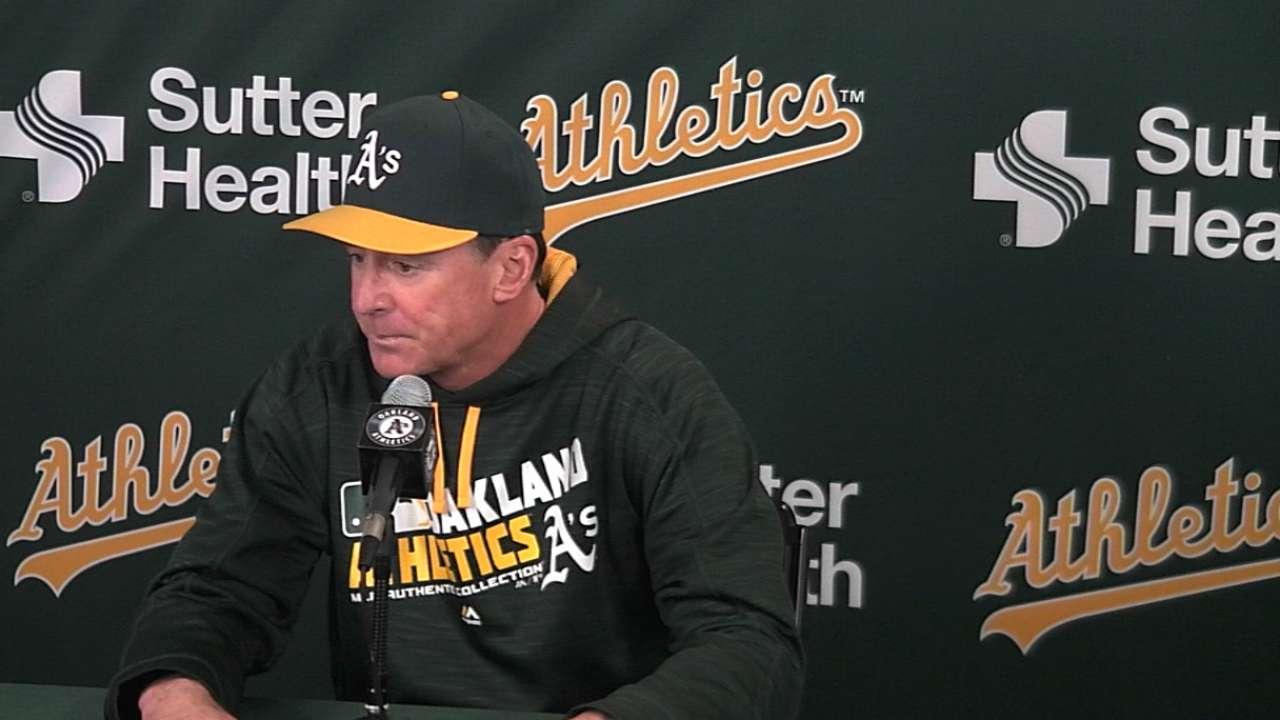 Melvin on Athletics' 4-1 loss