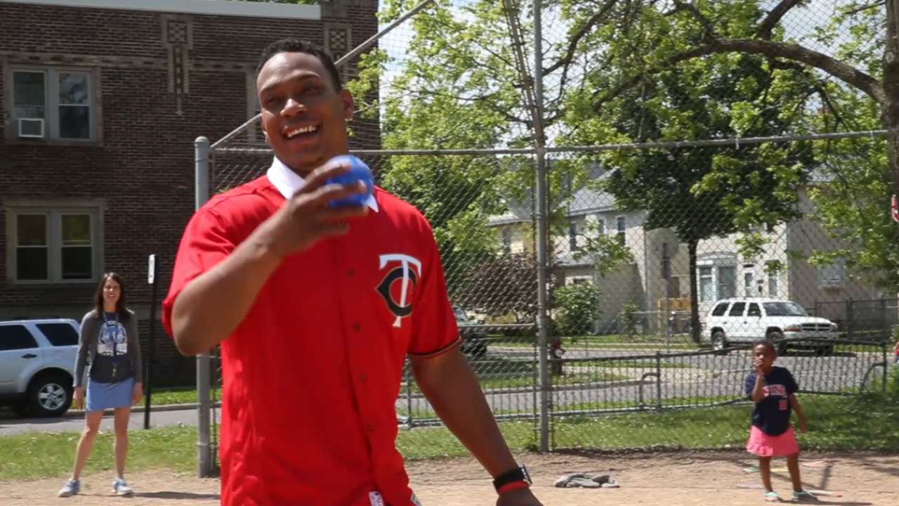 Twins make recess special for local students