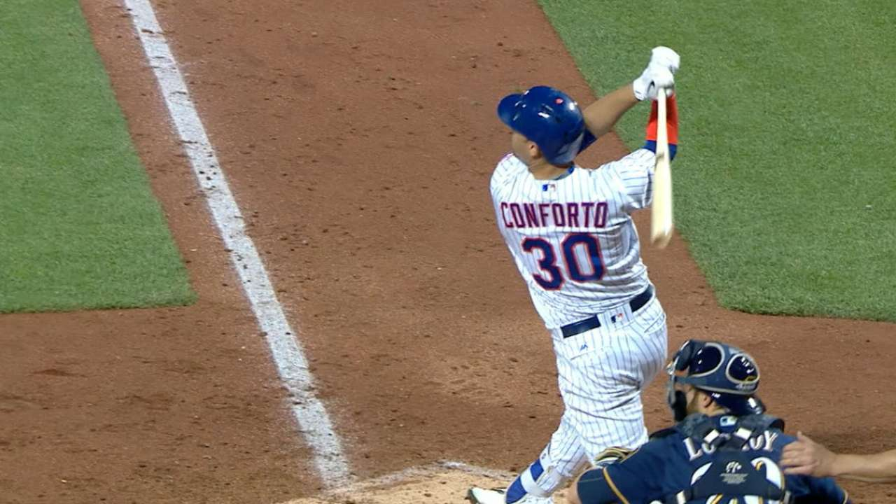Matz, Conforto Lead Mets to 3-2 Win Over Brewers