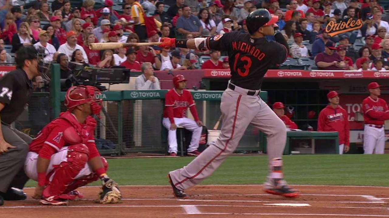 Machado's 12th home run of 2016
