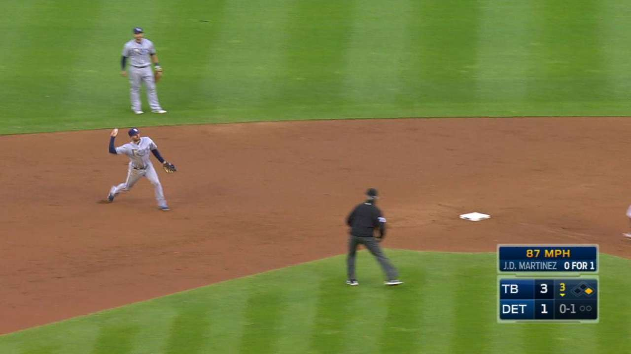 Miller gets the out at first