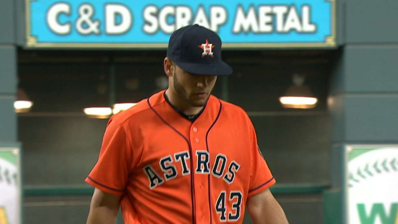 McCullers strikes out seven