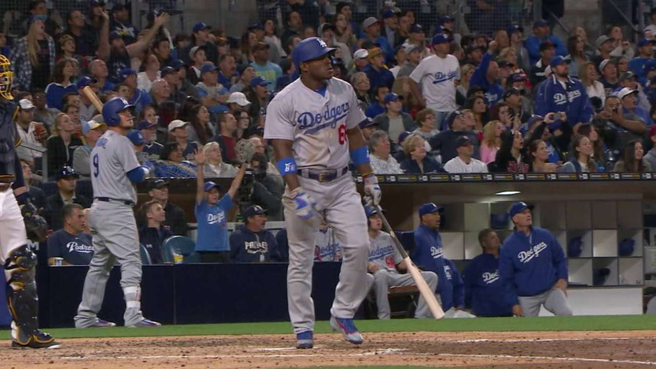Puig gives Dodgers reason for optimism