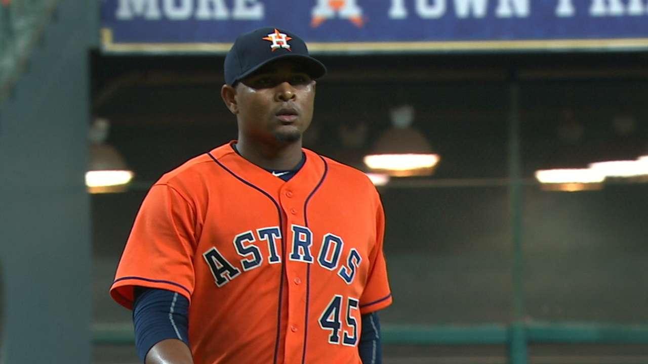 Feliz becoming a force in Astros' bullpen