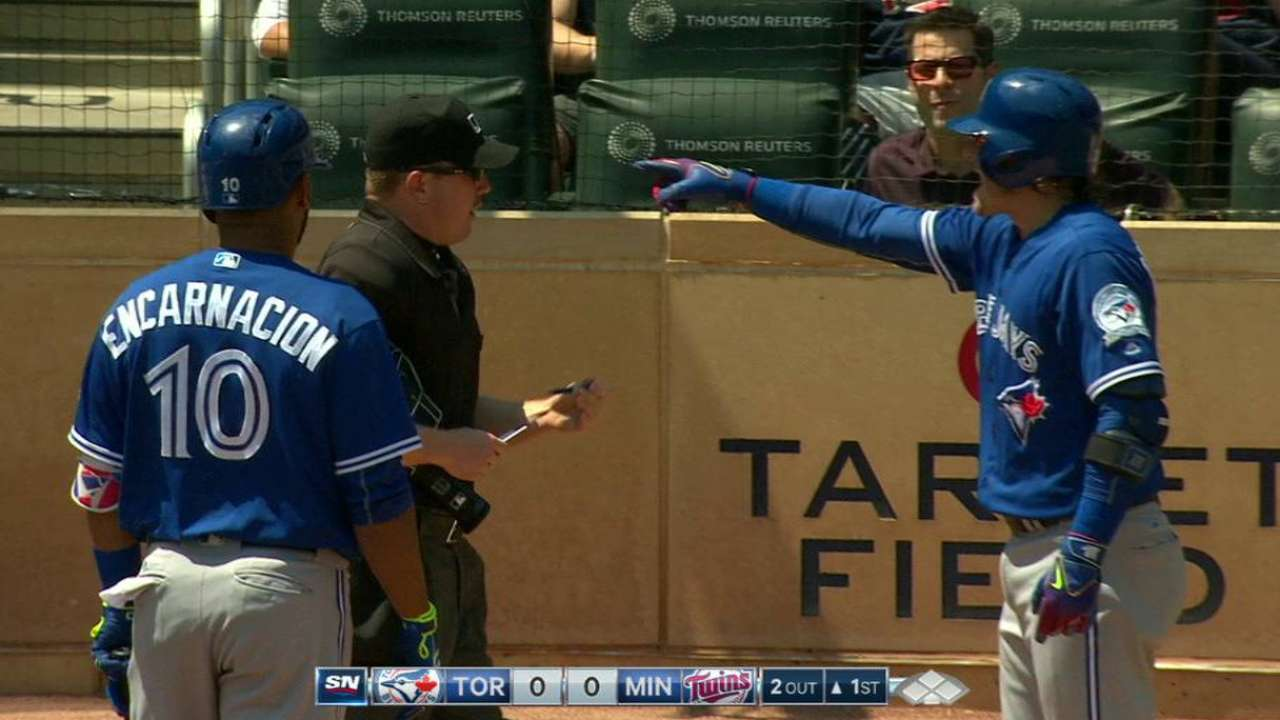 Donaldson receives first-inning ejection
