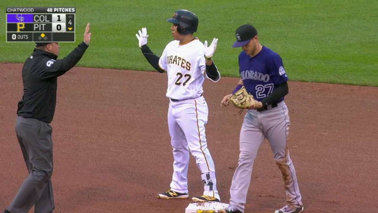 Kang hits double to start threat