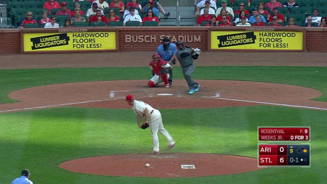 Weeks Jr.'s two-run homer