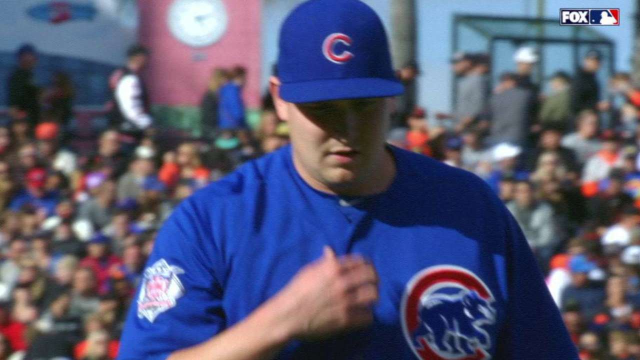Cahill strikes out Blanco