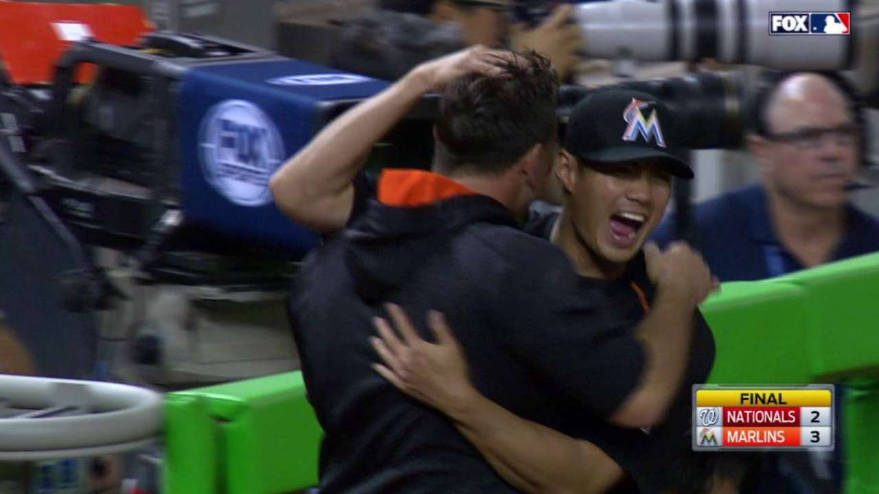 Ramos' great escape act in 9th saves Marlins