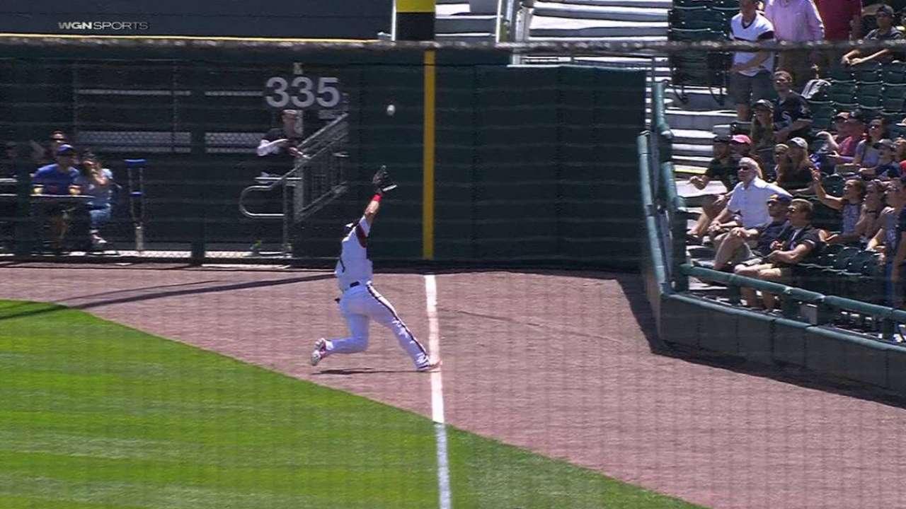 Eaton's impressive sliding catch