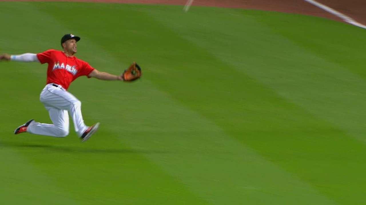 Stanton's athletic catch
