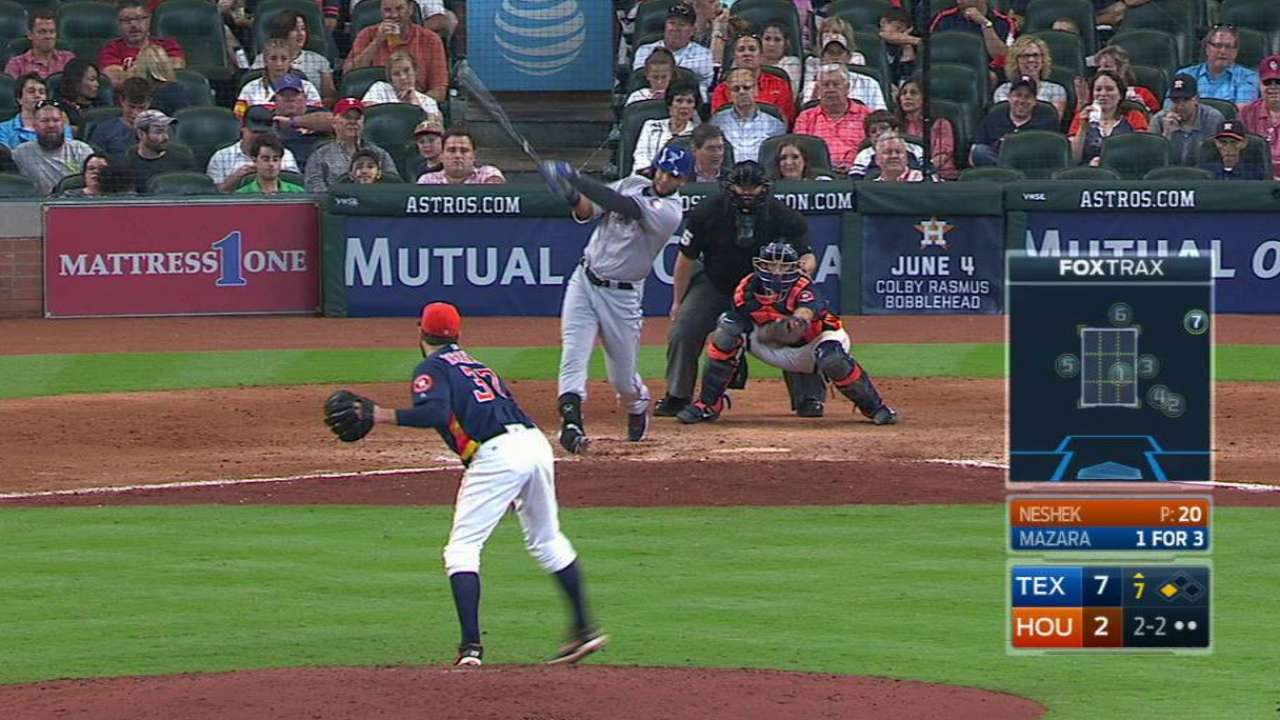 Hamels leads Rangers to sweep of Astros