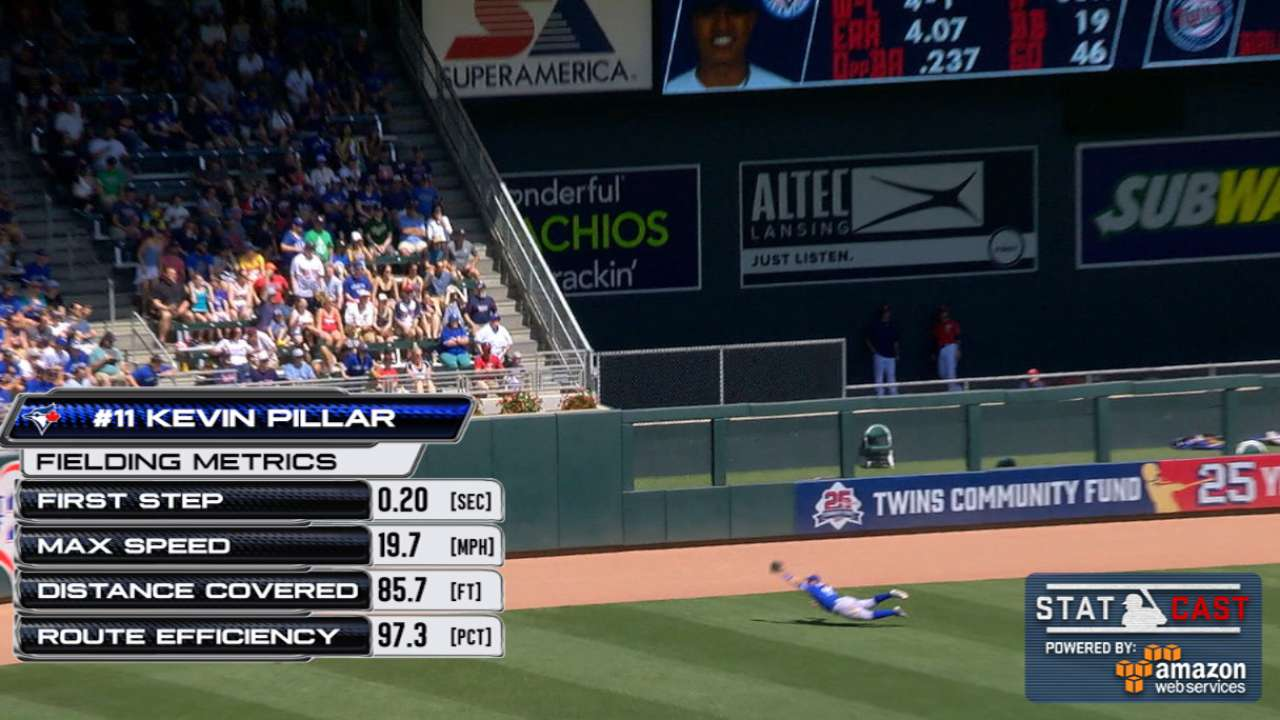 Statcast: Pillar's diving catch