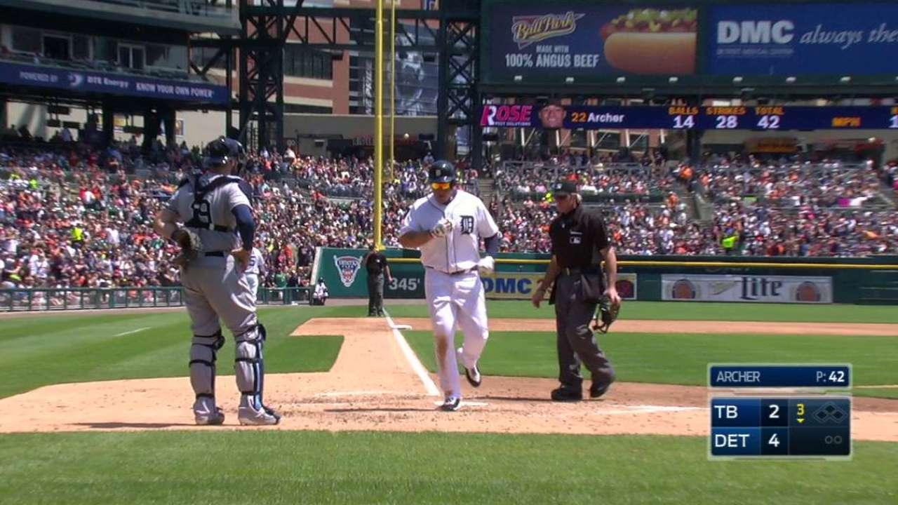 Tigers win series vs. Rays; Zimm, Miggy hurt