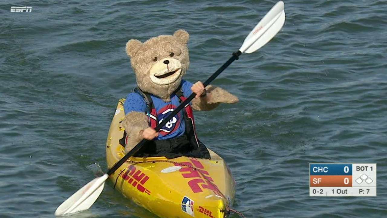 Cub kayaking in Cove leads MLB's top GIFs