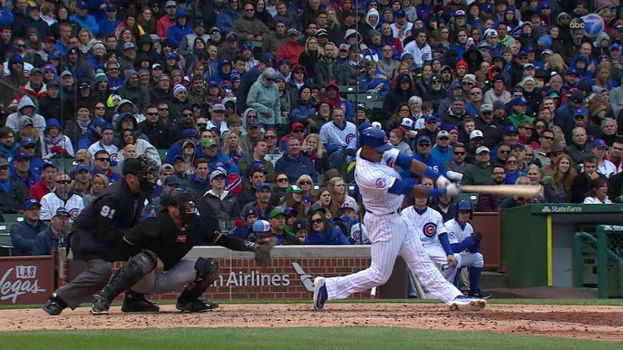 Russell's two-run shot to left