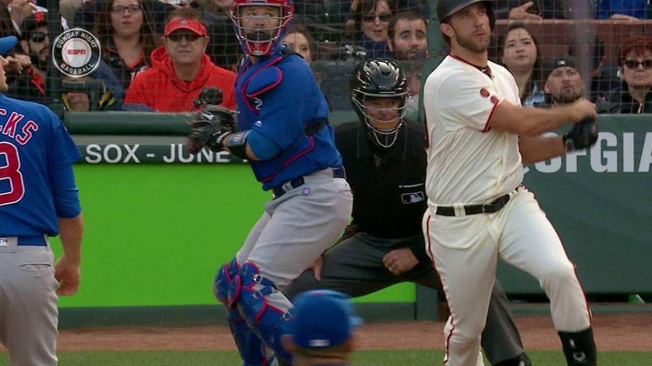 Bate, brazo de Bumgarner guían a Gigantes vs. Cubs