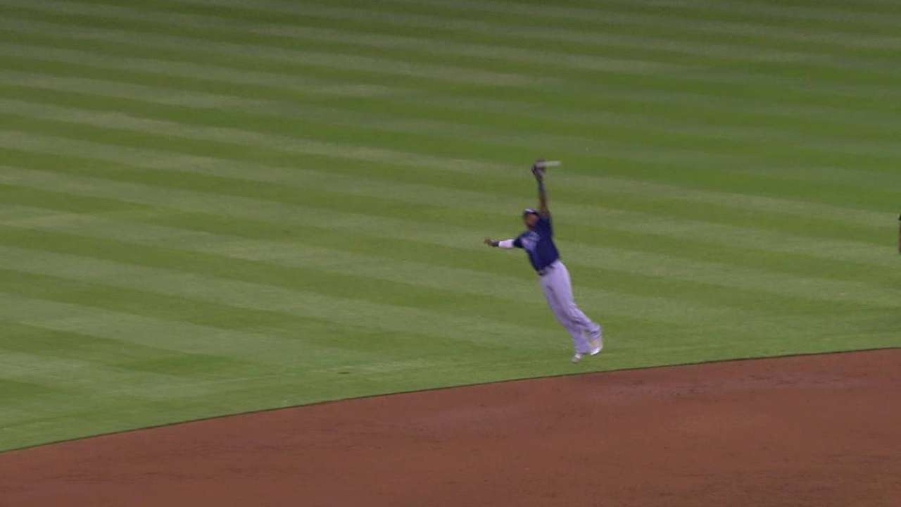 Beckham's leaping grab