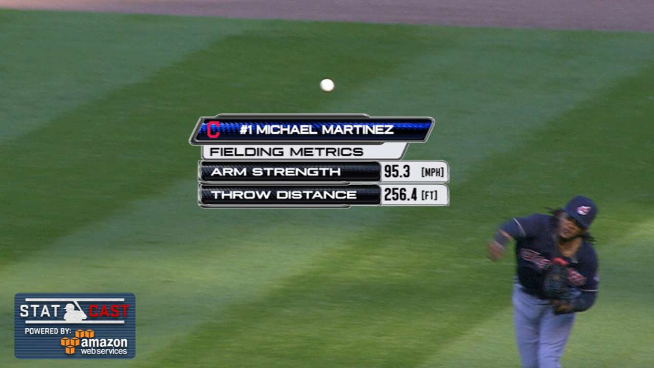 Statcast: Martinez's laser throw