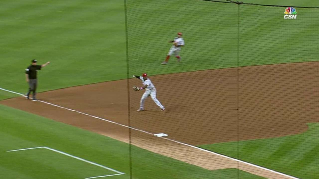 Franco's great diving stop
