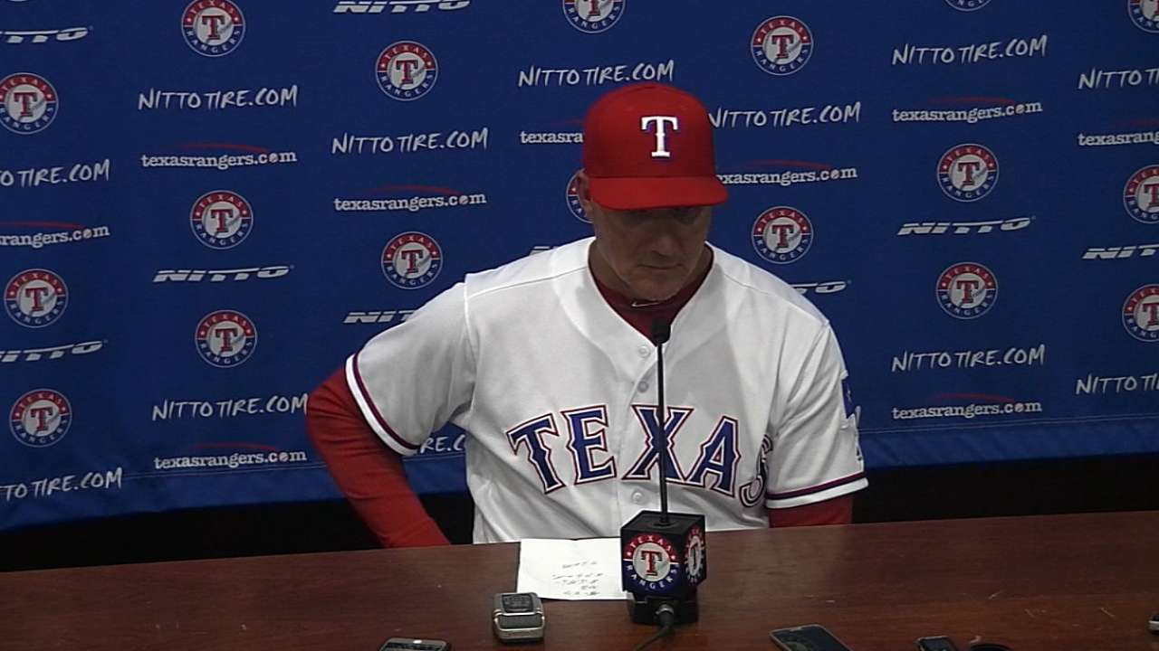 Rangers' offense bit by hard-hit outs