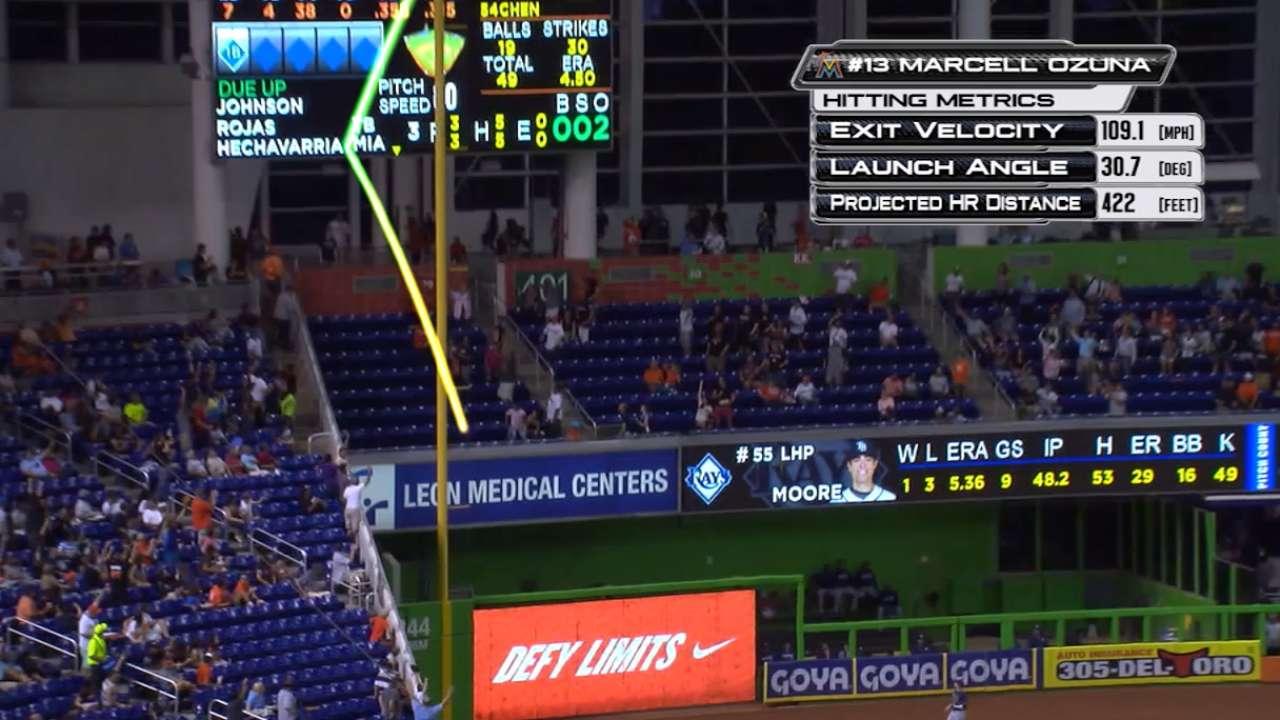 Statcast: Ozuna's long home run