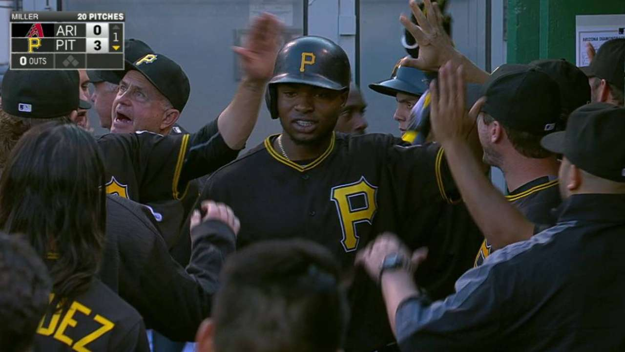 Gregory Polanco lidera paliza de Piratas sobre los Diamondbacks