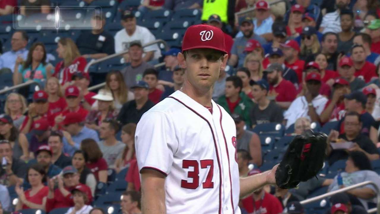 Strasburg loses count of outs